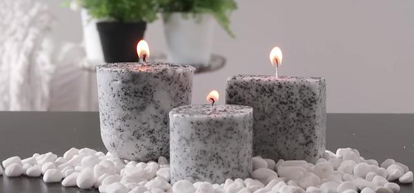 Velas Caseras con apariencia hechas en moldes de silicona