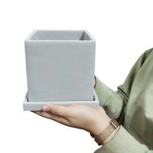 Molde silicona cuadrado 12cm para hacer maceta de cemento