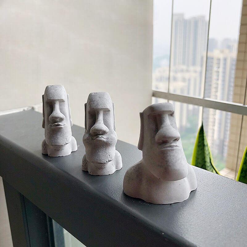 Venta moldes de silicona para yeso figura moai