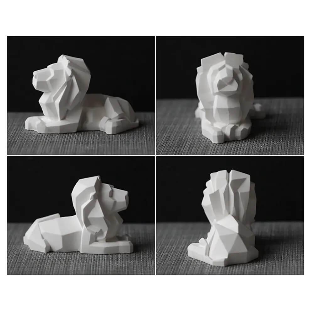 Venta moldes de silicona para yeso forma león