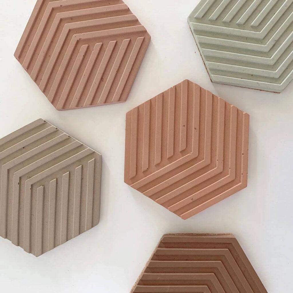 Venta moldes de silicona para cemento posavasos